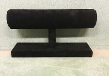 Jewellery Bangle/Bracelet Stand (Black Suede)