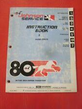 Johnson OMC Seahorse 2 HP Outboard Motor Service Manual 1980 J2RCS