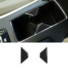 2Pcs Carbon Fiber Interior Water Cup Holder Cover Trim For Honda Accord 2013-17