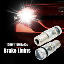 2x 100W 1156 BA15S 382 P21W CREE XBD WHITE LED STOP REVERSE LIGHT CANBUS BULB
