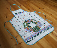 Vintage Country Style Pure Cotton Printed Rabbit Floral Kitchen BBQ Bib Apron