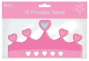 Pack of 12 Princess Tiaras - Girls Party Bag Fillers