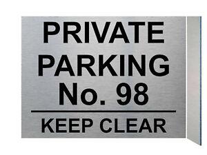 UV104 Personalised PRIVATE PARKING Digital Aluminium Composite Plaque Sign Gate