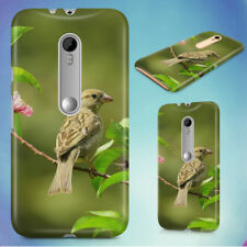 GRAY SMALL BIRD ON LEAVES HARD BACK CASE FOR MOTOROLA PHONES