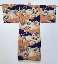 Vintage - Japanese Padded Kimono for boys - Cranes - Mallets - Great for Display