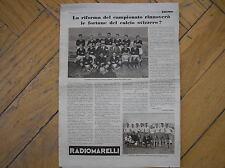 IL CALCIO ILLUSTRATO 1933 SERVETTE GENEVE FBC BASEL FOOTBALL SWISSE