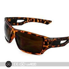 Tortoise Designer Sunglasses Outdoor Sports Rectangular Wrap Eyewear + Case S230