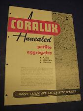 Coralux 1952 Katalog F. E. schundler & Company Asbest normiska Corp.