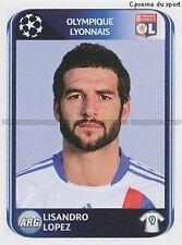 N°089 LISANDRO LOPEZ # LYONNAIS OL UEFA CHAMPIONS LEAGUE 2011 STICKER PANINI