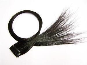 4x Highlight Strähne Rainbow Clip in Extensions Colour Haarsträhne Schwarz PC103