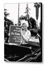Framed Marilyn Monroe Diet Coke Rules World faux signed autograph Limited Print