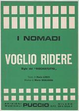 I NOMADI voglio ridere 1974 spartito sheet music sigla rischiatutto