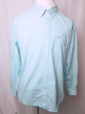 Mens Tommy Hilfiger Button Down Blue Plaid Check Shirt Size XXL Classic Fit EUC