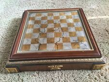 Franklin Mint Chess Board ONLY ♟Civil War Silver/Gold Edition♟Gettysburg
