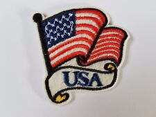 USA flag American Flag on pole Iron On Patch Sew On Transfer badge Brand New