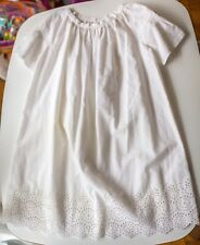 10T Bonpoint White Embroidery Dress High Quality Luxury design Beautiful