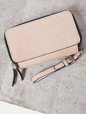 NEW WOMEN'S FREE PEOPLE QUARTZSITE NATURAL LEATHER MULTI ZIPPER POCKET WALLET
