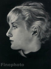 1931 Vintage FEMALE PORTRAIT Hubbell Hair Glamor 11x14 Photo Art Deco ARAM ALBAN
