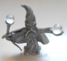 Spoontiques 1985  pewter wizard figurine  w/ crystals cmr591