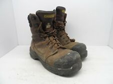 DAKOTA Mens 8'' 8410 Composite Toe Composite Plate Injected Work Boot Brown 9M