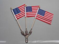 3 flag holder license plate topper three american flag topper USA flag holder