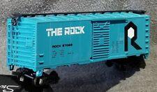 Bachmann 10008 THE ROCK ISLAND 40' 41' Steel Boxcar RI 57025 BLT 7-42 Aqua Teal