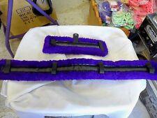 Pony Fleece Harness Saddle & Breast Collar Pads Set Amish Made Purple