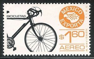 "mae01 Mexico Exporta MNH paper 1 printing error ""bionic bicycle"" very SCARCE"