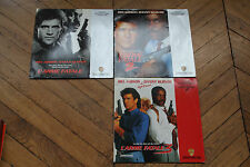 Trilogie l'arme fatale  1,2 & 3 LASERDISCS  PAL  LD  CDV Mel Gibson
