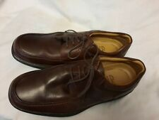 Mens New Clarks Flexlight Leather Shoes Size 8 Wide Fit Col Brown
