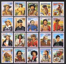 US Year 1994 #2869a-t Legends Of The West Cpl set of 20 single stamps Mint NH