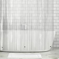"mDesign STALL SIZE Waterproof Vinyl Shower Curtain Liner - 54"" x 78"" - Clear"