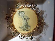 "Hummel Ornament ""Letter To Santa"" 24K Gold Plate Christmas Euc Free Shiping!"