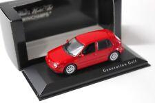 1:43 Minichamps vw golf 4 IV GTI 5-puertas red traficantes New en Premium-modelcars