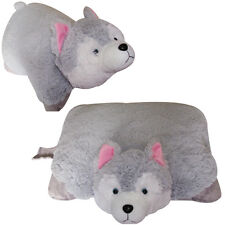 "Large HUSKY PET PILLOW, 18"" inches, ""Plush & Plush"" Brand, my Puppy Dog Gray New"