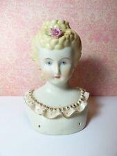 "Rare 5"" Blonde Updo Emma Clear 1945 Bisque Porcelain Parian Doll Shoulder Head"