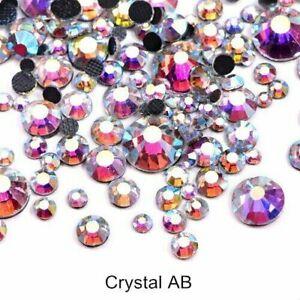 1440pcs Crystal AB Rhinestones Flatback Strass Stones Nail Art Decoration Gems