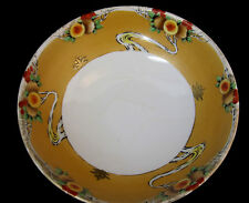 Early Nippon Bowl Dish Hand Painted Fruit Design Vintage White Gold Red