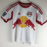 Adidas ClimaCool MLS New York Red Bull White Soccer Jersey Youth Size M Medium