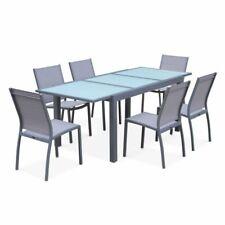Alice's Garden ORLANDO Table Extensible en Aluminium 150/210cm - Gris