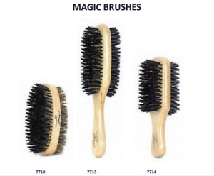 Soft Or Hard Double Side Wood Brush Boar & Plastic Bristles By Magic Collection