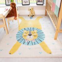 Colourful Kids Rugs Multi Scandi Animal Print Lion Childrens Nursery Play Mats