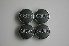 4 x Original Audi Felgendeckel A3 A4 / 8W0601170 4M0601170 grau metallic 60mm