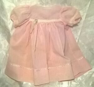 "BEAUTIFUL VINTAGE 1940's ?50's BABY DOLL DRESS.COTTON. FITS 20-22"" DOLL.EXC.COND"