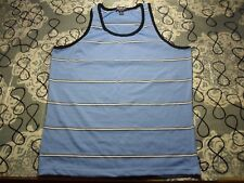 Medium- Blue White Pinstripes Tank Top / Jamplay Brand T- Shirt