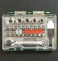 Bosch Mini Schrauberbit- und Ratschen-Set 27-teilig in Aufbewahrungsbox