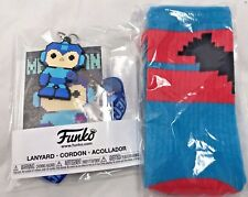 New Batman Blue Red Socks & Mega man Lanyard GS Exclusive Funko Capcom DC