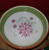 "Stangl Carnival Pattern 8-1/4"" Vegetable Serving Bowl Vintage Red Clay Pottery"