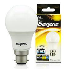 2 Energizer 9w = 60w Watt LED GLS Globe BC B22 Fitting Energy Saving Light Bulb