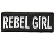 REBEL GIRL Funny Embroidered Redneck Southern Confederate Biker Patch PAT-3443